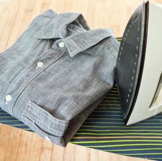 5 bước là áo sơ mi nhanh và phẳng hơn
