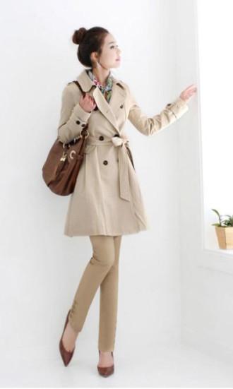 Áo khoác măng tô duyên dáng cho cô nàng công sở