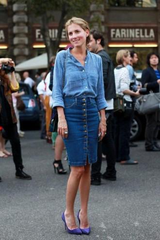Chân váy đầm bò gu thời trang công sở cá tính, duyên dáng cho nàng