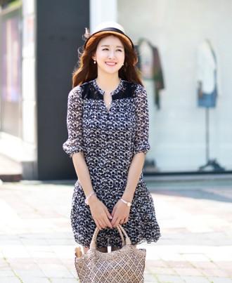 Váy đầm liền thân Hàn Quốc duyên dáng cho bạn gái công sở