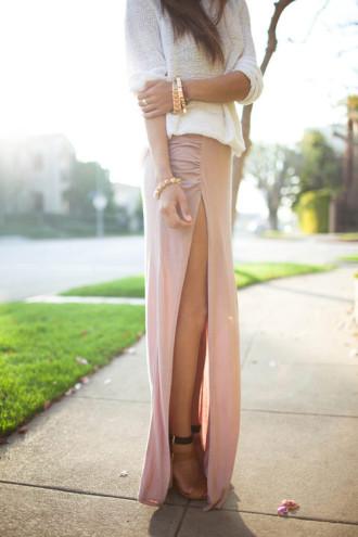 Váy đầm maxi xẻ đùi đẹp cho cô nàng công sở gợi cảm khoe chân dài