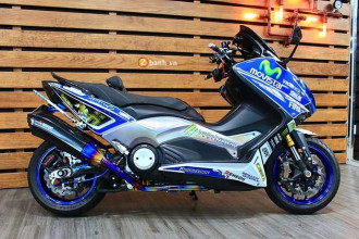 Yamaha TMax phiên bản Movistar đầy chất lừ và phong cách