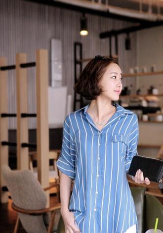 Sơ mi nữ dáng rộng kiểu Hàn Quốc cho nàng 'tung tăng' ngày hè