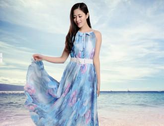 Váy đầm maxi voan cho nàng thêm lãng mạn, ngọt ngào