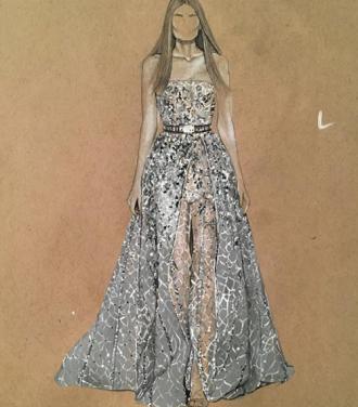 Những bộ váy chỉ xuất hiện trên bản vẽ nhưng mang vẻ đẹp 'choáng ngợp'