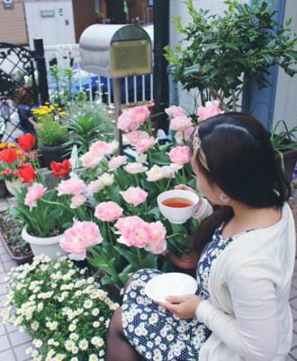 Vườn nhỏ nhiều hoa, rau trái xinh xắn của nàng dâu Việt ở Nhật