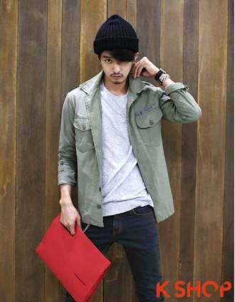 3 kiểu áo khoác nam đẹp Hàn Quốc thu đông 2017