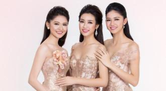 Hoa hậu Mỹ Linh đo sắc với 2 á hậu