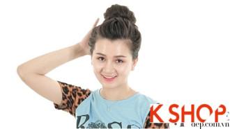 5 Kiểu búi tóc cao cho cô nàng dễ thương