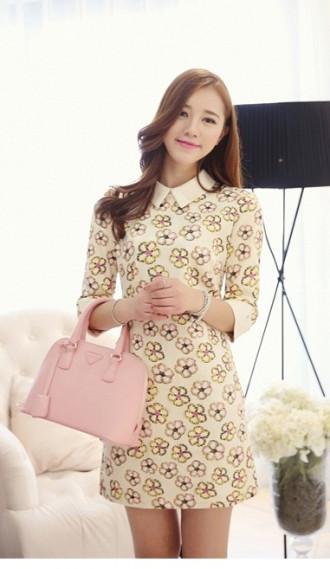 Váy đầm suông cổ cho bạn gái xinh xắn như sao Hàn